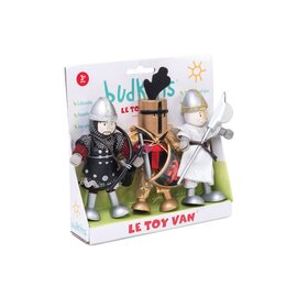 Le Toy Van Budkins - Knights Wooden Dolls | Triple Set