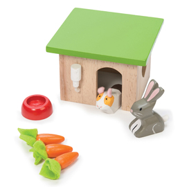 Le Toy Van Bunny With Guinea Pig | Wooden Dolls House Accessory Set