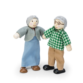 Le Toy Van Budkins - Grandparents Wooden Dolls