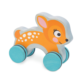 Le Toy Van Petilou Dotty Deer Wooden Push Along Toy