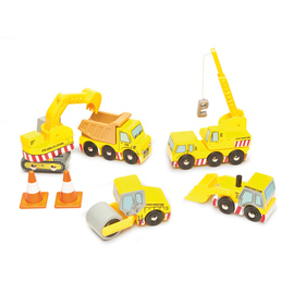 Le Toy Van Construction Vehicle Set