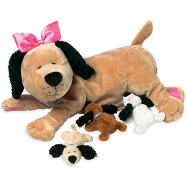 Manhattan Toy Co. Nursing Nana Dog with Puppies