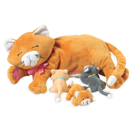 Manhattan Toy Co. Nursing Nina Cat with Kittens