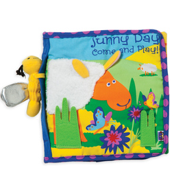 Manhattan Toy Co. Sunny Day Fabric Book | Baby Cloth Activity Book