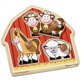 Melissa & Doug - Barn Animals Jumbo Knob Puzzle