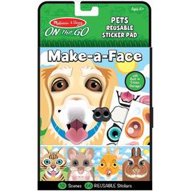 Melissa & Doug - On The Go Make A Face Reusable Stickers - Pets