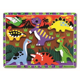 Melissa & Doug - Dinosaurs Wooden Chunky Puzzle