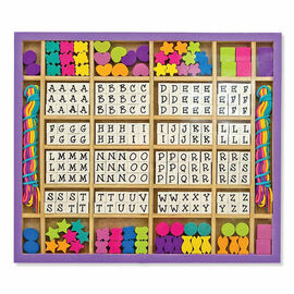 Melissa & Doug - Created By Me! Alphabet Beads Wooden Activity Kit