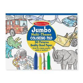 Melissa & Doug - Jumbo 50 Page Kids Colouring Pad - Blue | Activity Book