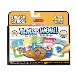 Melissa & Doug On The Go Water WOW! Splash Cards |Shapes! Numbers! Colours!