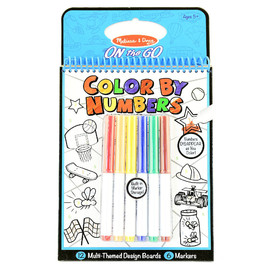 Melissa & Doug - On The Go Color by Numbers Book -Blue