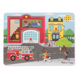 Melissa & Doug - Fire Station Sound Jigsaw Puzzle 8pc