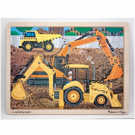 Melissa & Doug - Diggers At Work 24pc Jigsaw Puzzle