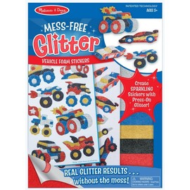 Melissa & Doug Mess Free Glitter Craft Kit - Vehicle Foam Stickers
