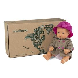 Miniland Doll Caucasian Girl 32cm Boxed with Outfit | Anatomically Correct Baby Doll