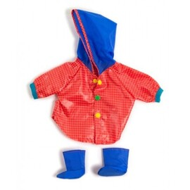 Miniland Doll Clothes - Raincoat & Wellingtons Set | 38-42cm Doll