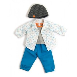 Miniland Doll Clothes - Boys Blue Spring Set | 38-42cm Doll
