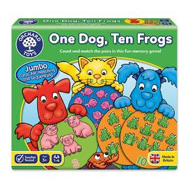 Orchard Toys - One Dog, Ten Frogs Game