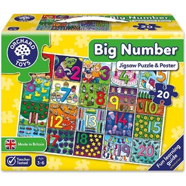 Orchard Toys - Big Number Poster & Jigsaw Puzzle 20 piece