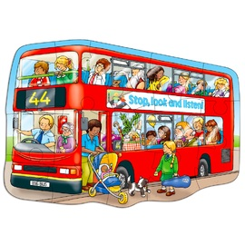 Orchard Toys - Big Red Bus Jigsaw Puzzle 15pc Floor Puzzle