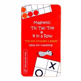 The Purple Cow Four In A Row & Tic Tac Toe Magnetic Travel Game