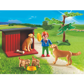 Playmobil Country - Golden Retrievers with Toy