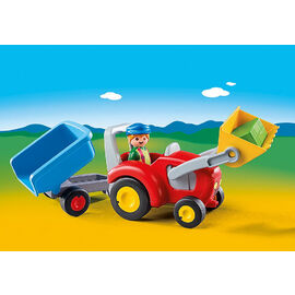 Playmobil 1.2.3 | Tractor with Trailer