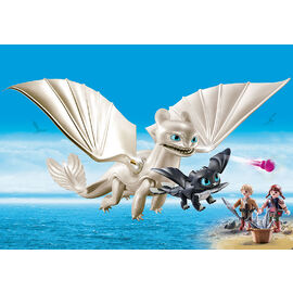 Playmobil - How To Train Your Dragon | Light Fury with Baby Dragon & Children