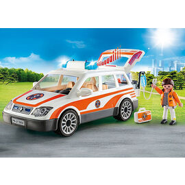 Playmobil City Life - Emergency Car with Flashing Lights & Siren