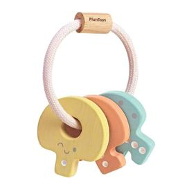 Plan Toys - Baby Key Rattle | Pastel | Wooden Eco Toy