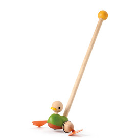 Plan Toys - Push Along Duck Wooden Eco Toy