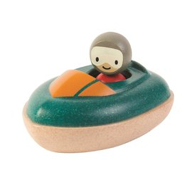 Plan Toys - Speed Boat and Driver Wooden Eco Toy