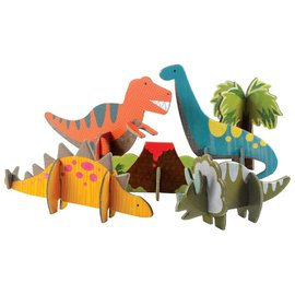 Petit Collage - Pop Out & Play Dinosaurs Play Set