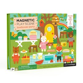 Petit Collage - Treehouse Play Scene Magnetic Playset