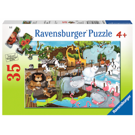 Ravensburger - Day at the Zoo 35pc Jigsaw Puzzle