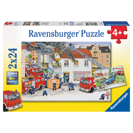 Ravensburger Busy Fire Brigade Jigsaw Puzzle 2x24pc