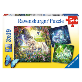 Ravensburger - Beautiful Unicorns Jigsaw Puzzle 3x49pc Puzzle Set
