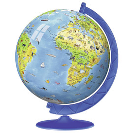 Ravensburger Children's Globe 3D Puzzle & Stand 180pc