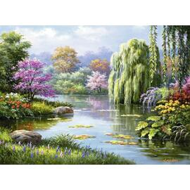 Ravensburger - Romantic Pond View Jigsaw Puzzle 500pc