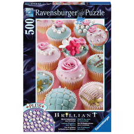 Ravensburger - Pearl Cupcakes Brilliant Jewel 500pc Jigsaw Puzzle