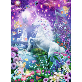 Ravensburger - Unicorn in Glittery Forest Brilliant Gem 500pc Jigsaw Puzzle