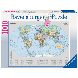 Ravensburger - Political World Map Jigsaw Puzzle 1000pc