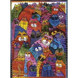 Ravensburger - Laurel Burch Fantastic Felines 1000pc Jigsaw Puzzle
