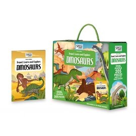 Sassi Junior | Travel, Learn & Explore Dinosaurs Jigsaw Puzzle 205pc