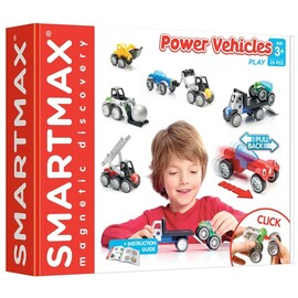 SmartMax Power Vehicles Mix | 25 Piece Magnetic Construction Kit