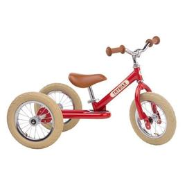 TryBike Steel 2in1 First Step First Ride | Vintage Red & Cream