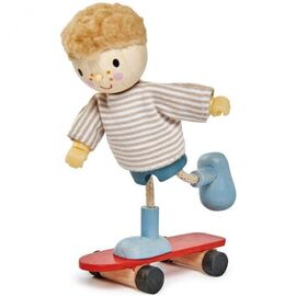 Tender Leaf Edward Goodwood Wooden Doll with Skateboard
