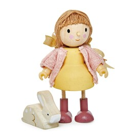 Tender Leaf Amy Goodwood Wooden Doll with Pet Rabbit