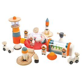 Tender Leaf Toys Life On Mars Set | 16 Piece Wooden Space Set