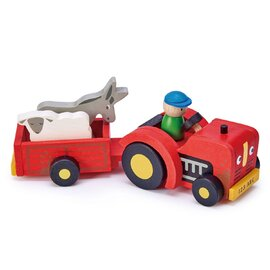 Tender Leaf Toys Wooden Tractor and Trailer